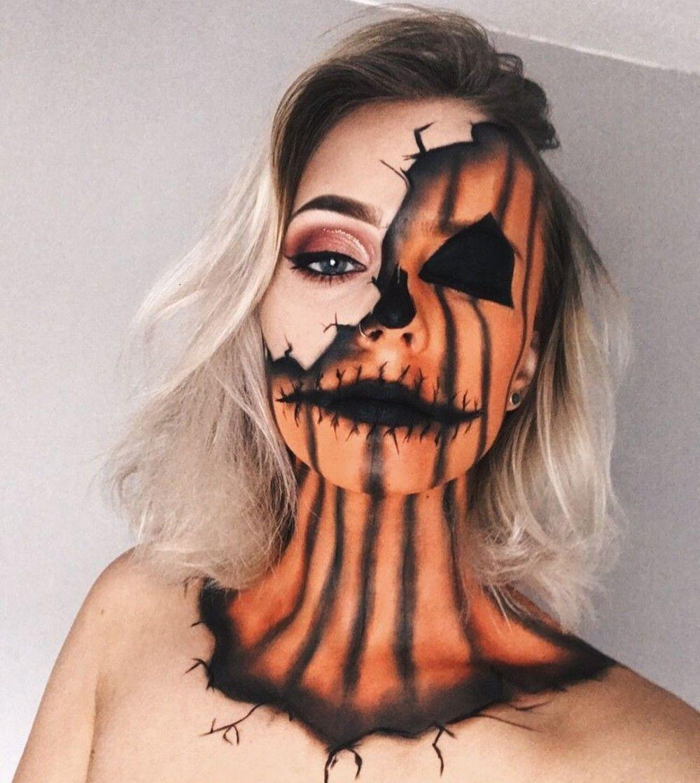 19 Unglaubliches Jack O'Lantern Make-up füttert Ihre Kürbis-Obsession #easyupdo