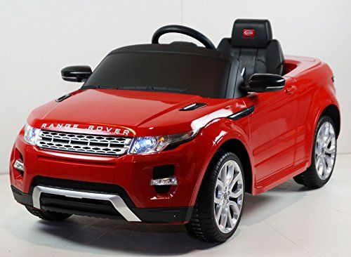 2015 Licensed Range Rover Evoque 12v Kids Ride On Power Wheels Battery Toy Car Remote Control Lights Music Red Kids Ride On Toy Car Kids Power Wheels