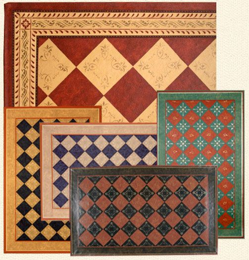Painted Kitchen Floor Cloth: Dunberry Hill Designs :: Floorcloth Gallery I'm Not A Fan