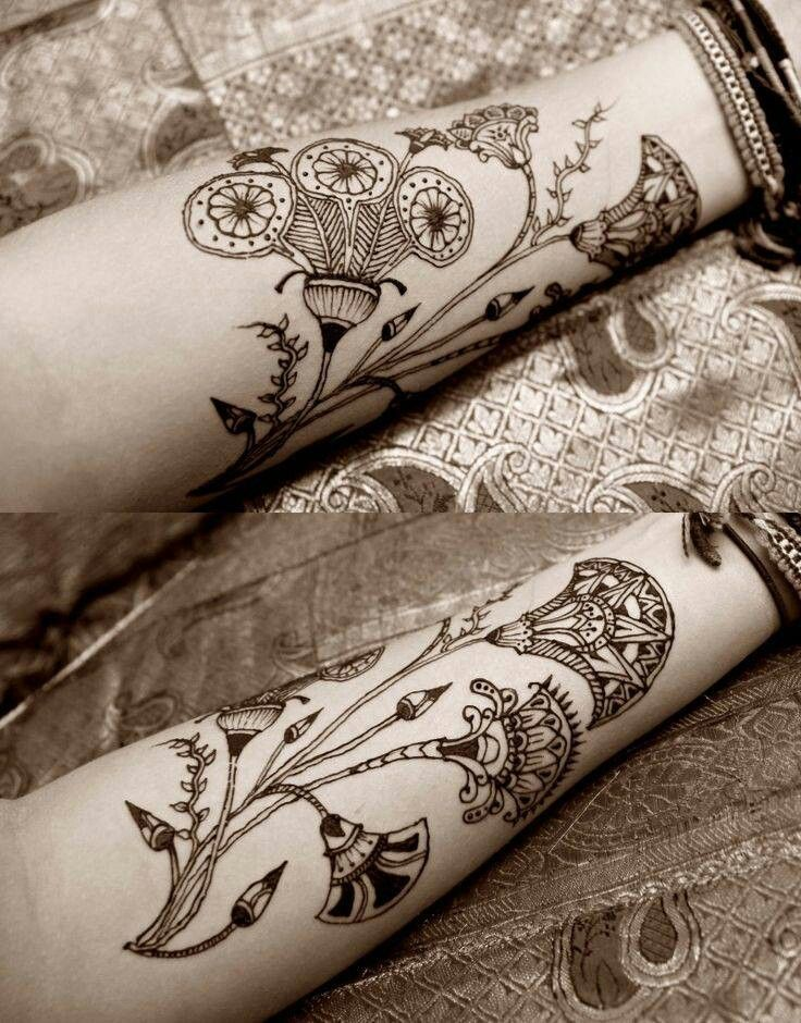Lotus Flower Henna Tattoo Designs: Egyptian Tattoo, Henna Designs, Flower Henna