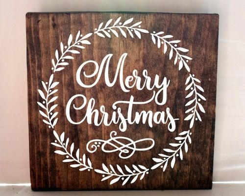 christmas wood sign wood sign diy sign rustic christmas sign - Merry Christmas Wooden Sign