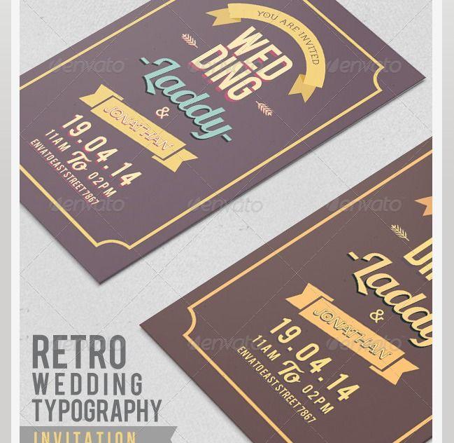 45 beautiful wedding invitation psd templates – photoshop and, Invitation templates