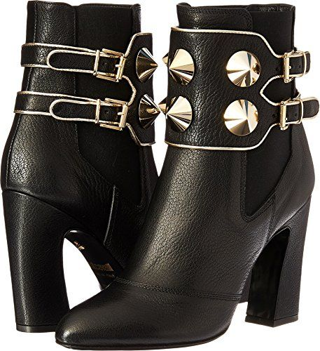 Just Cavalli Women's Studded Ankle Boot Black Boot Just ...