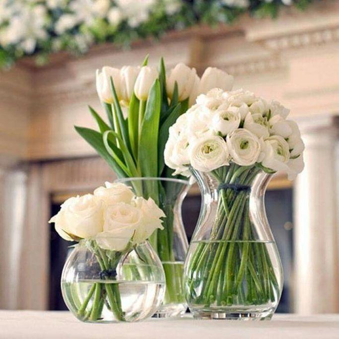 19 Delightful Floral Arrangements Ideas For Your Dining Table Flower Arrangements Diy Vase White Flower Arrangements Flower Arrangements