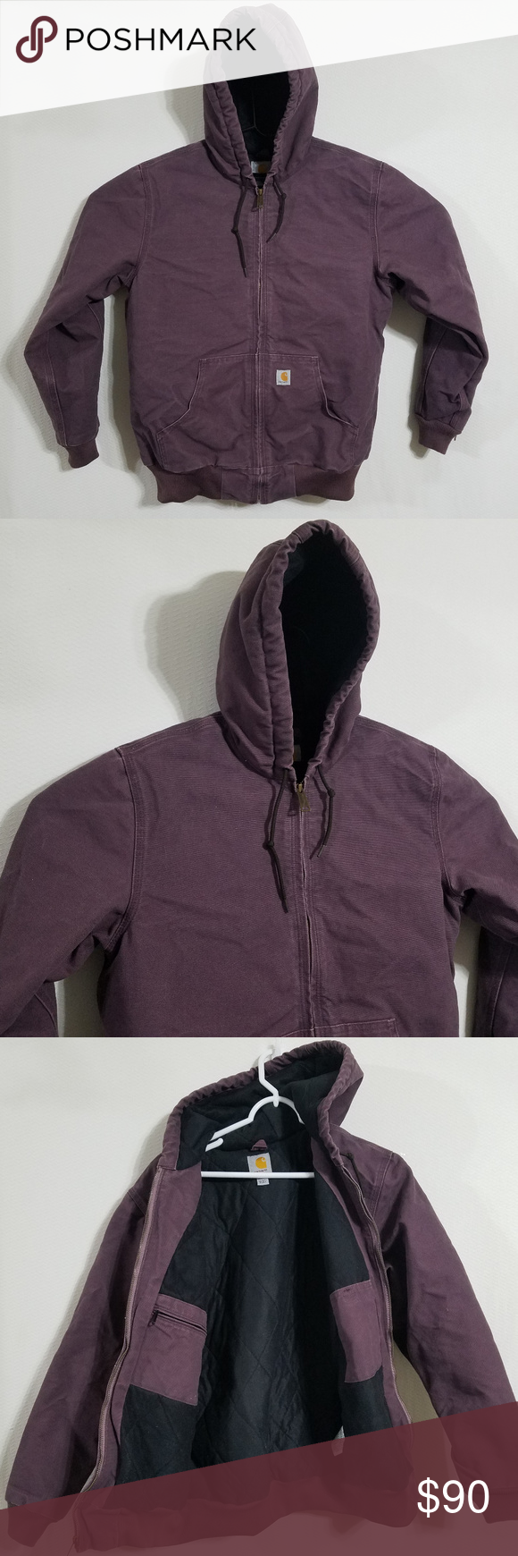 Carhartt Womens Medium Coat Heavy Winter Jacket Carhartt Women's Jacket  PRODUCT DETAILS Brand - Carhartt Color - Purple Size - Women's Medium Condition - Excellent Style - Heavy Insulated Winter Coat  MEASUREMENTS (in inches / Lay Flat) Top to Bottom Length - 27 Pit to Pit -  22  See something you like.  Send me an offer!                    #TAGS - Coats Jackets Insulated Down Cold Weather Gear Full Zip Up Thermal Waterproof Shell Carhart Carrhartt Carrhart Carhartt Jackets & Coats #carharttwomen