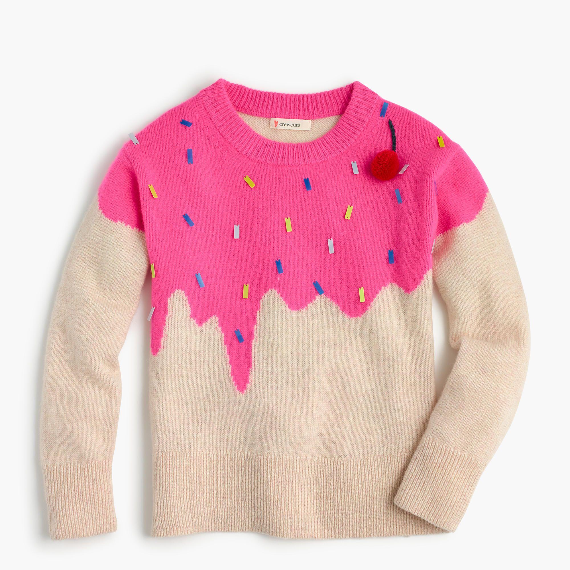 J.Crew Girls' ice cream popover sweater | Girls sweaters