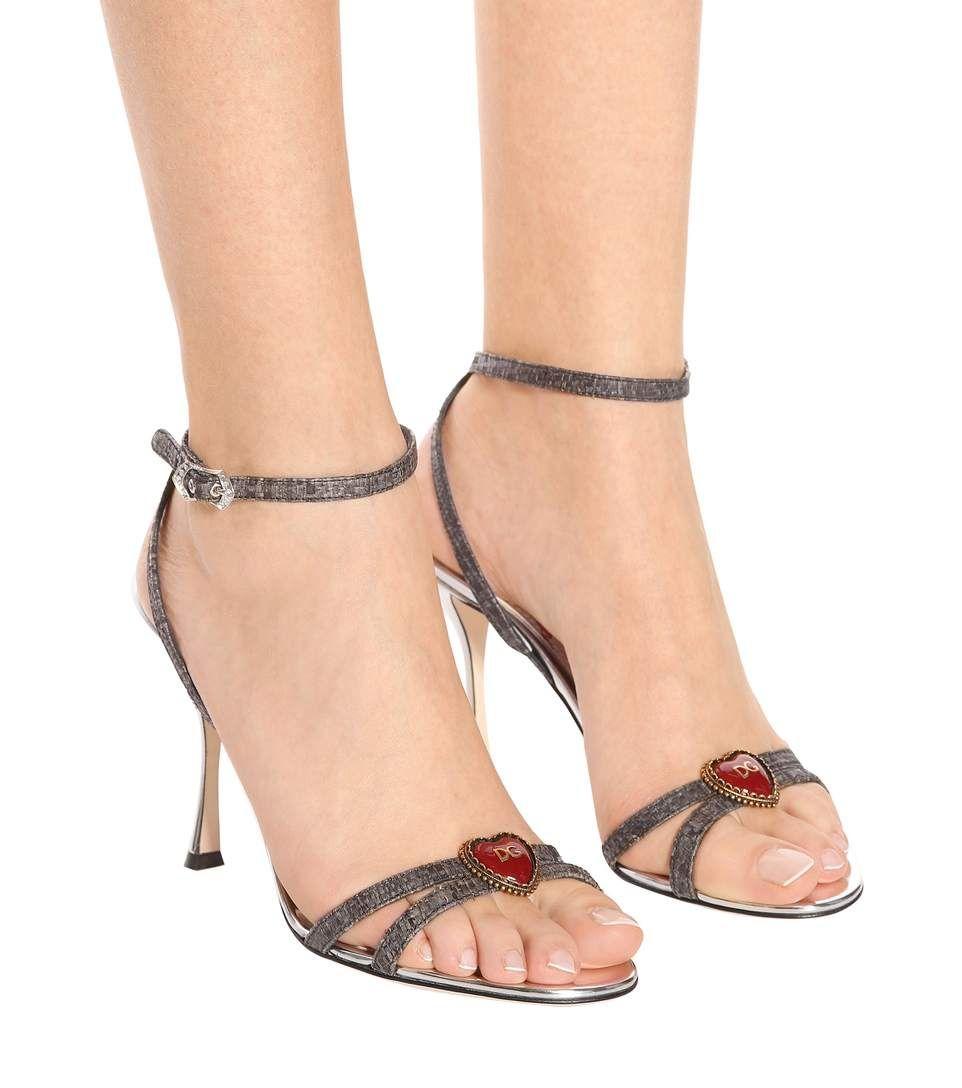 Logo Coeur Sandales Cheville-bracelet Dolce & Gabbana Ao6F0V