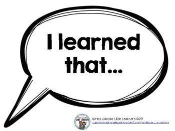 Conversation Starters {Accountable Talk Stems