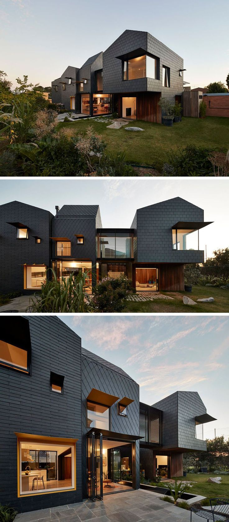 Dark Grey Slate Creatively Covers This Australian Home | Tile ...