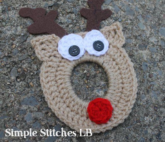 Reindeer Crochet Camera Lens Buddy