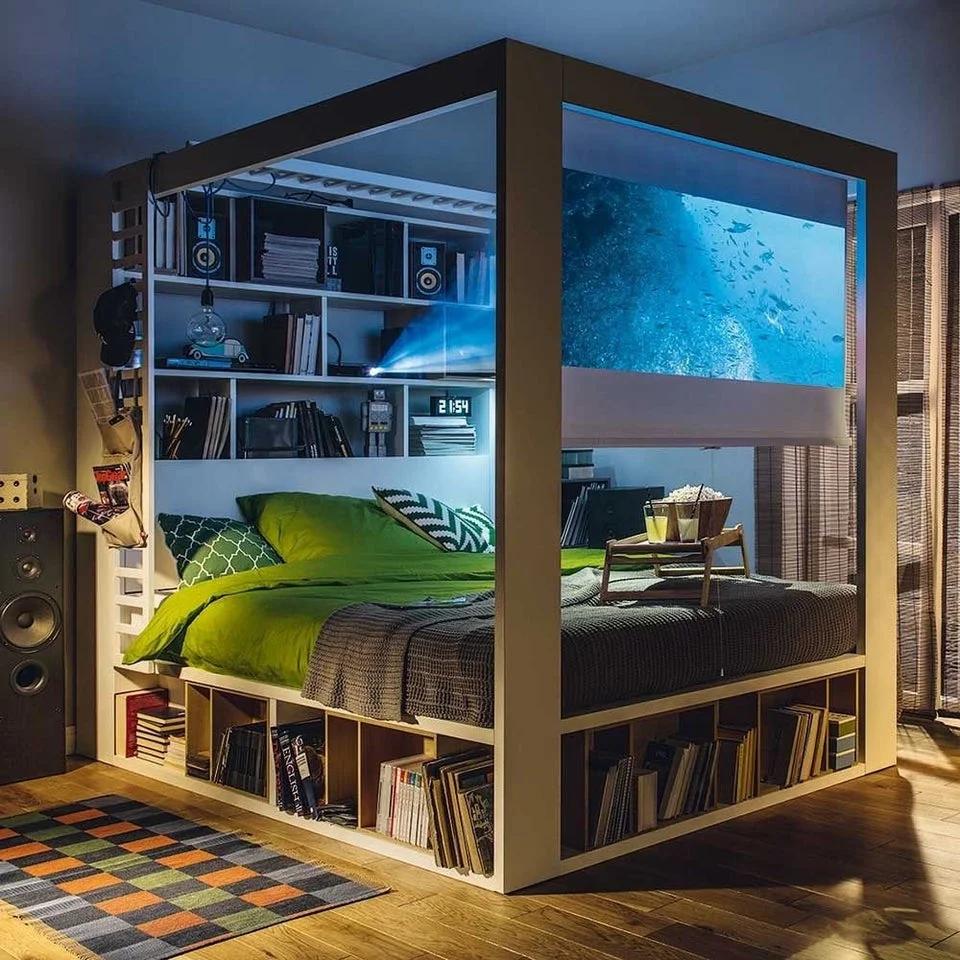 Awesome Bedroom Nextfuckinglevel Em 2020 Ideias De Decoracao Para Casa Camas Legais Decoracao De Cabanas