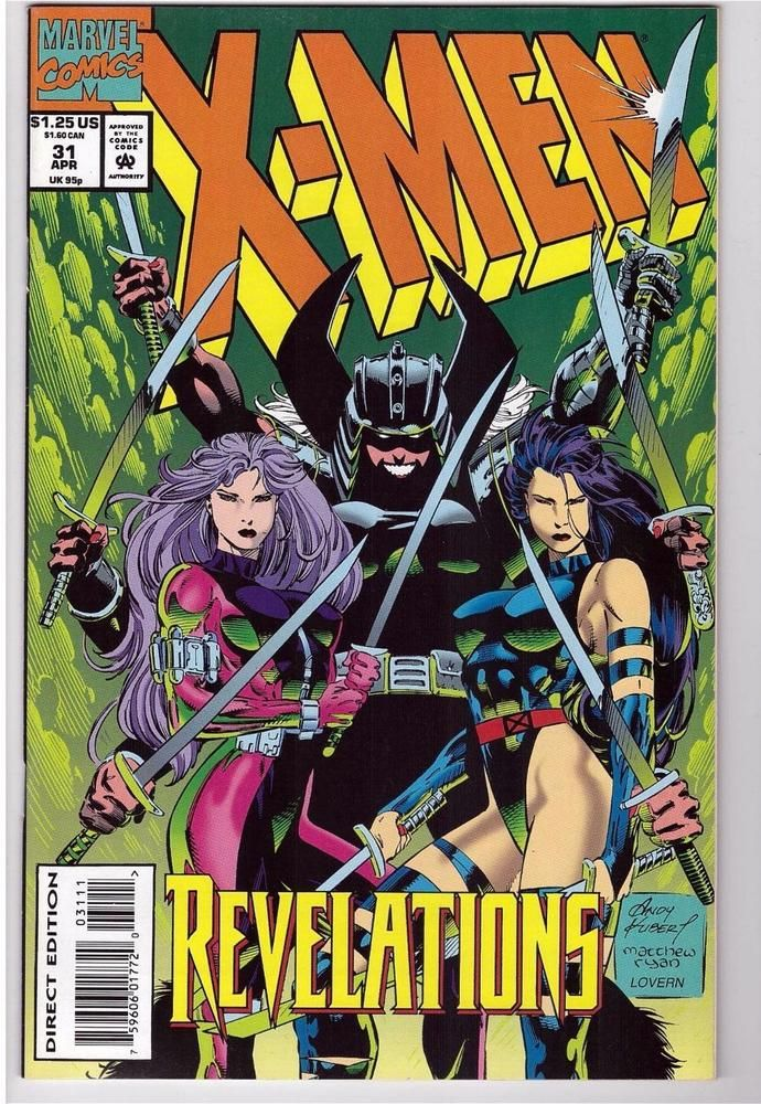 X Men 31 April 1994 Marvel Comic Book Revelations Soul Possessions Marvel Comics Covers Comics Marvel Comics Art