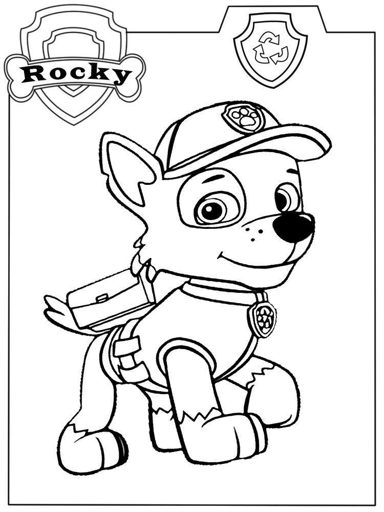 Descargar Gratis Dibujos Para Colorear Paw Patrol Cumpleaños