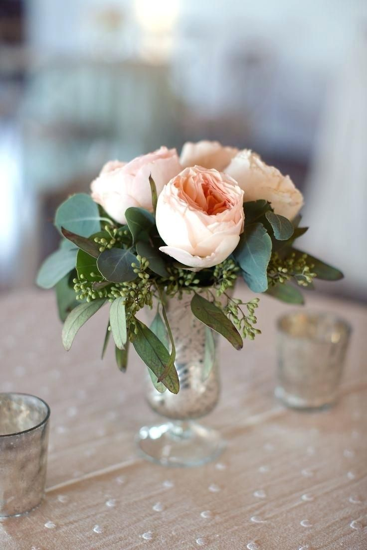Diy wedding table decorations ideas  Diy Wedding Centerpieces Ideas On A Budget Small Rose Centerpiece