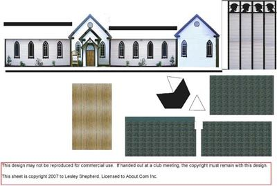 Make a Simple Village Church in 1:144 Scale: Materials List for a 1:144 Scale Village Church