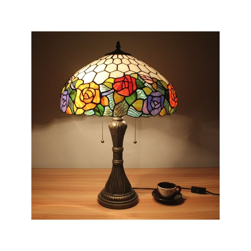 Beleuchtung Tiffany Lampen Tiffany Tischlampen Eu Lager Florale 2 Flammige Tiffany Tischleuchte Galvanisch Lamp Tiffany Table Lamps Modern Lamp