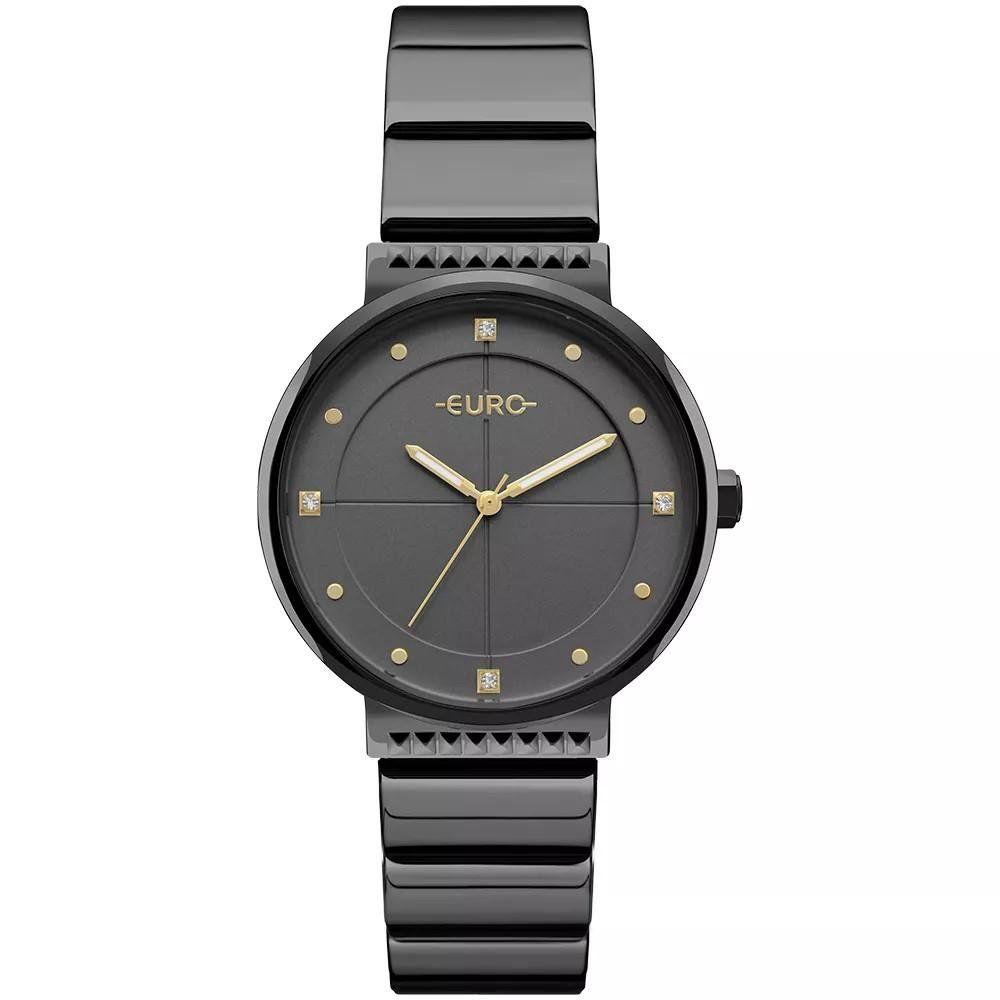 Relógio Euro Feminino Spike Slim Preto - EU2035YOB 4P - Relógio Feminino  Euro Preto Slim ea307221d6