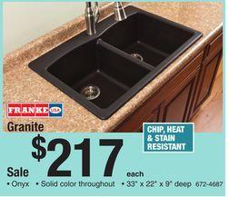 Franke Usa Granite Kitchen Sink From Menards $21700  For The Pleasing Menards Kitchen Sinks 2018