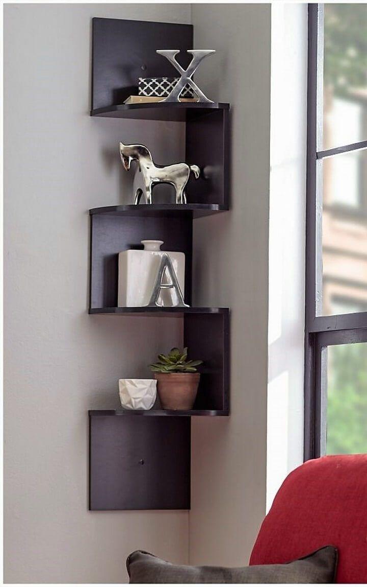Wood Corner Shelf Ideas 27 Diy Corner Shelf Corner Shelves Living Room Tv Unit Designs