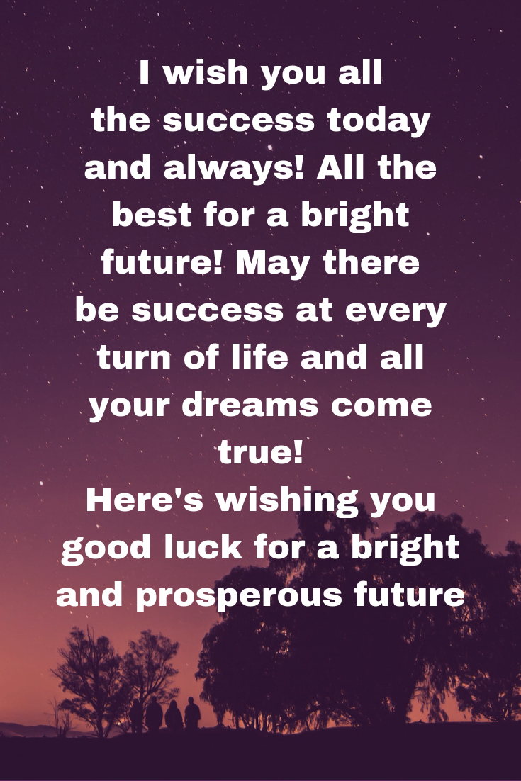 West wishes for future