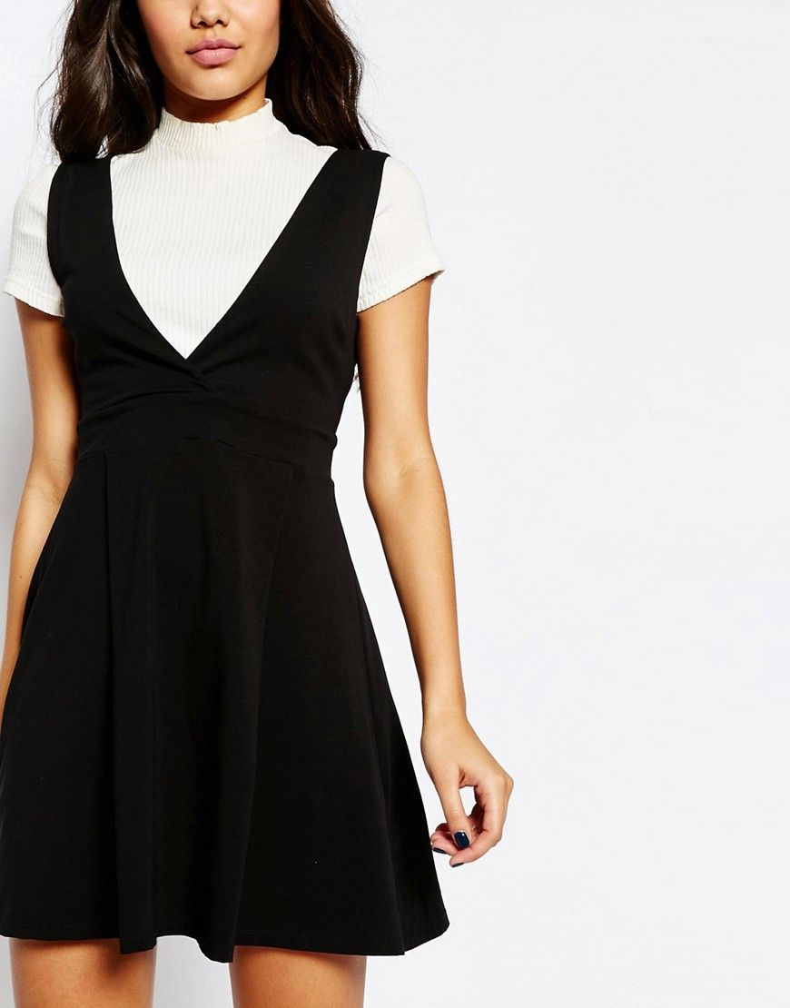 97883bb5d1 Image 3 of ASOS Wide Strap Pinafore Dress
