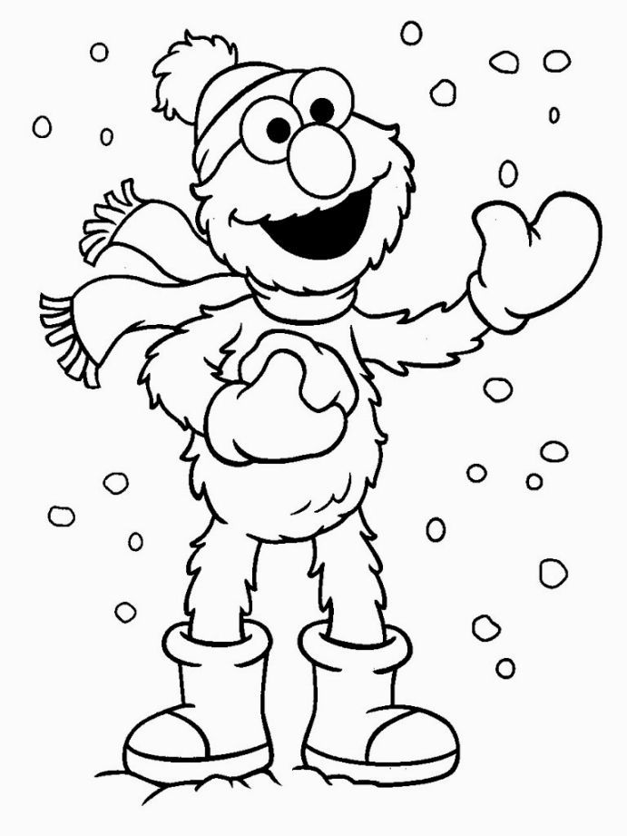 Elmo Christmas Coloring Pages With Images Elmo Coloring Pages