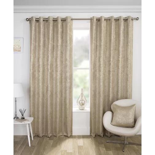Desiree Eyelet Room Darkening Curtains Room Darkening Curtains