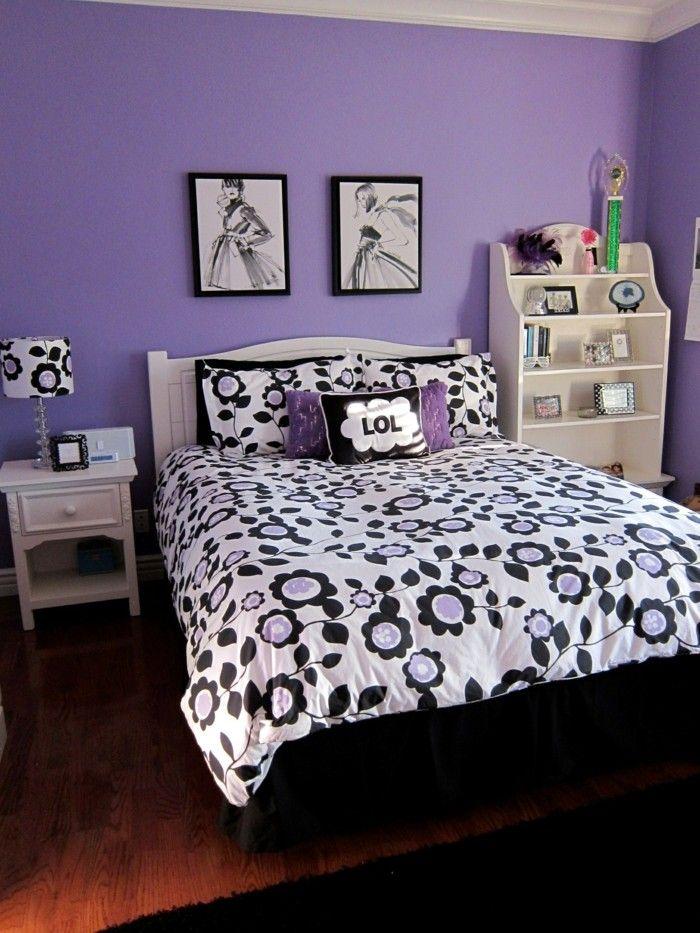 Die Farbe Lila schlafzimmer schwarz lila kombinieren Lugares - farbe für schlafzimmer