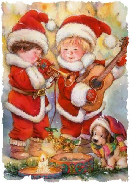 Vintage Christmas Painting ~ Lisi Martin (1944, Spanish)