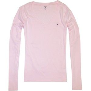 TOMMY HILFIGER WOMENS TEE SHIRTS PICS  | Tommy Hilfiger Women Long Sleeve Logo V-Neck T-Shirt