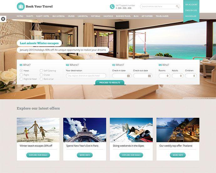 22 Beautiful Travel Website Templates Web Graphic Design Bashooka Travel Website Templates Travel Website Hotel Website