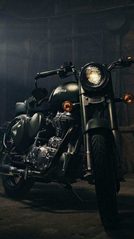 Royal Enfield Black Iphone Wallpaper With Images Bullet Bike