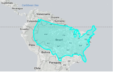 World Map US Versus South America World Society - Us aging population interactive map
