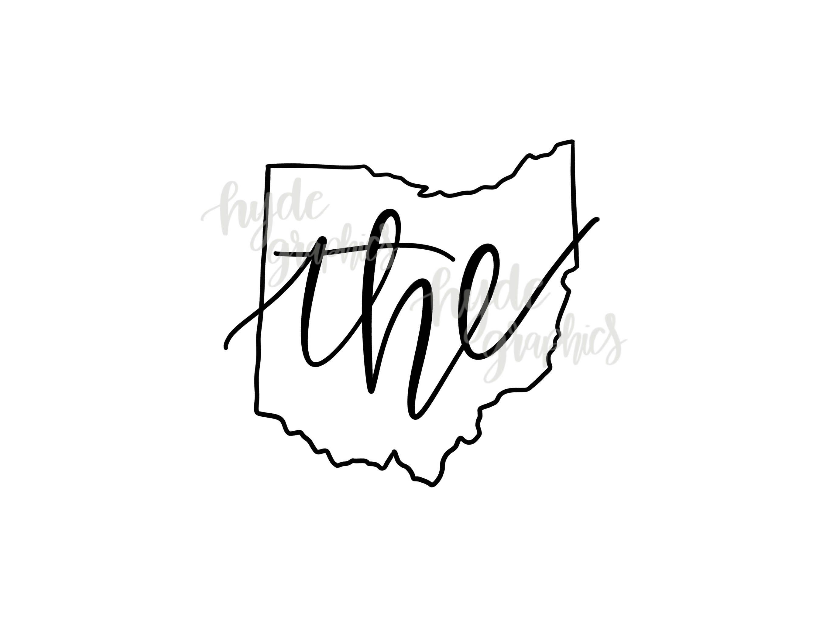 The Ohio State Outline Svg File Ohio Outline Svg Design Etsy State Outline Ohio Outline Ohio State Tattoos