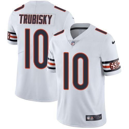 Men S Youth Women Chicago 10 Mitchell Trubisky Color Rush Jersey White Nfl Jerseys Nfl Nike Nfl