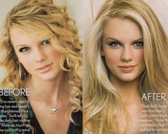 Taylor Swift Straight Hair And Curly Curly Vs Straight Hair Straight Hairstyles Beauty