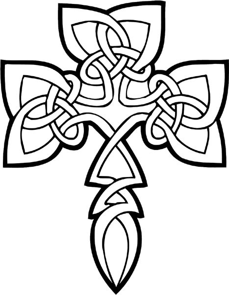 free printable celtic cross coloring pages - Hearts Crosses Coloring Pages