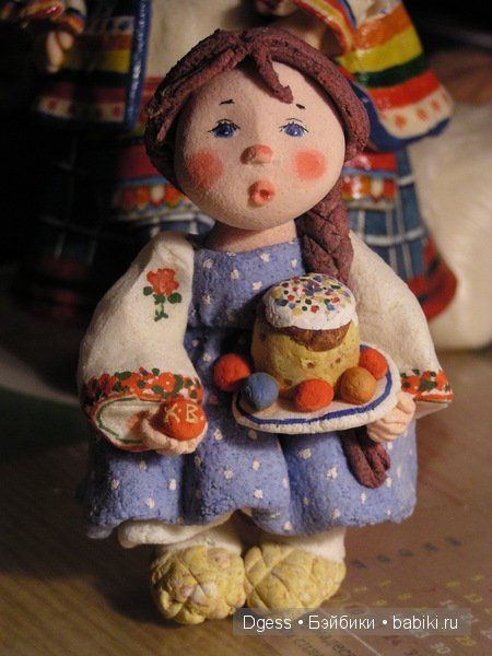 Поделка из теста соленого кукла 167