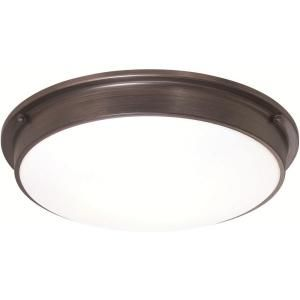 Flush Mount Ceiling Lights Led: Osram Sylvania 3-Light Flush Mount Ceiling Old Bronze LED Indoor Light  Fixture-75252.0,Lighting