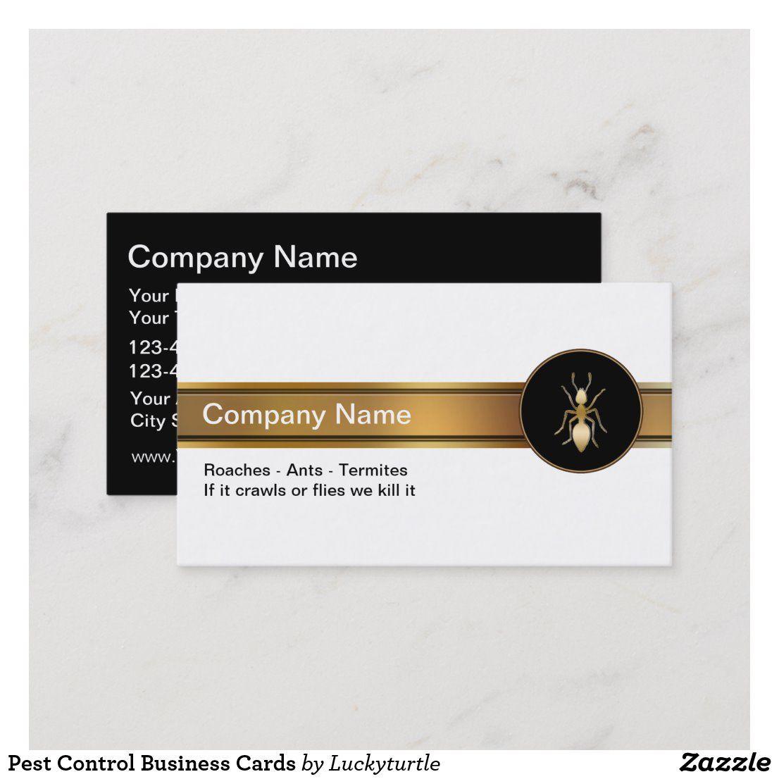 Pest Control Business Cards Zazzle Com Pest Control Personal Business Cards Business Cards