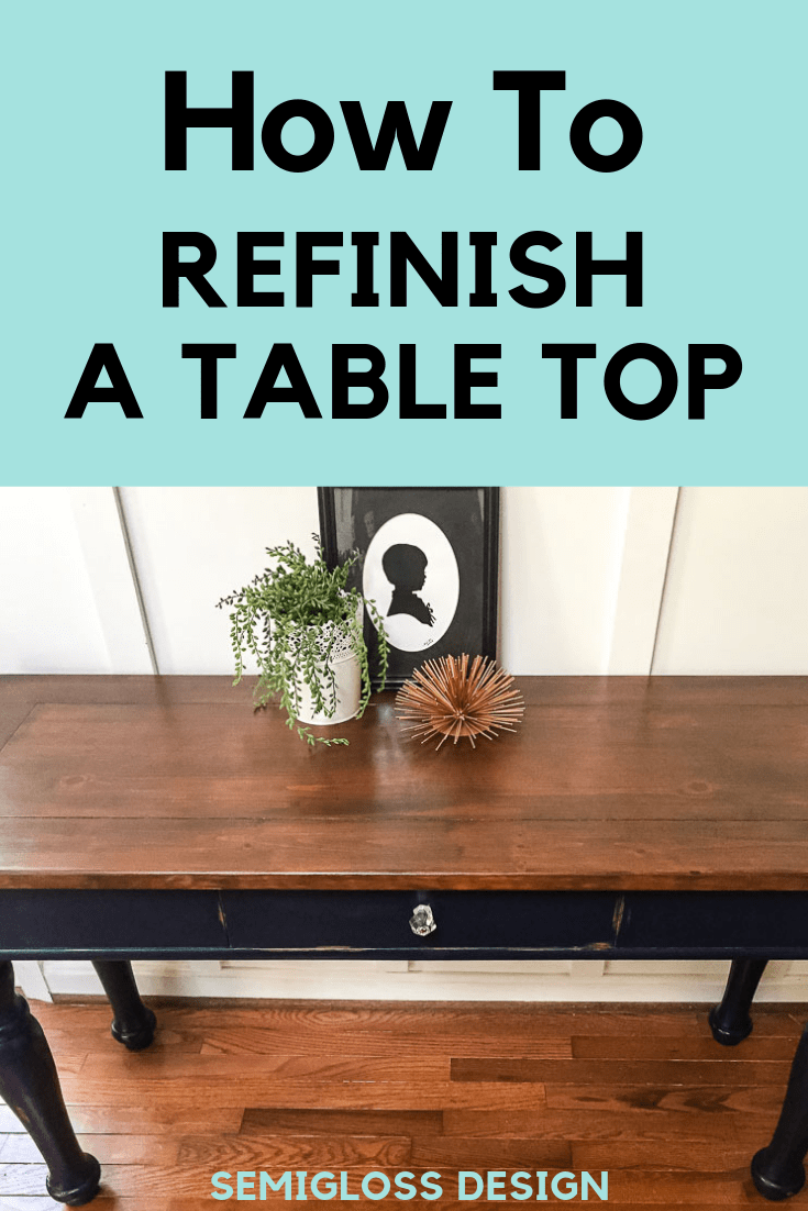 Learn how to refinish a table top without messy chemicals. It's ...