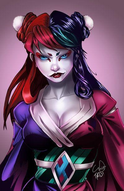 Harley Quinn Asian Style  Harley Quinn  Harley Quinn -1831