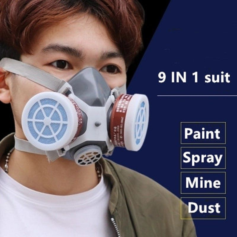 Smoke Gas Mask Protective Respirator Painting Welding Safety Chemical Toxic Gases Canisters Anti Dust Filter Military Workplace In Chemical Respirators From Sec