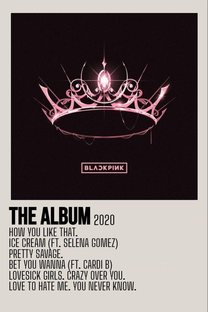 minimalist album poster the album by blackpink