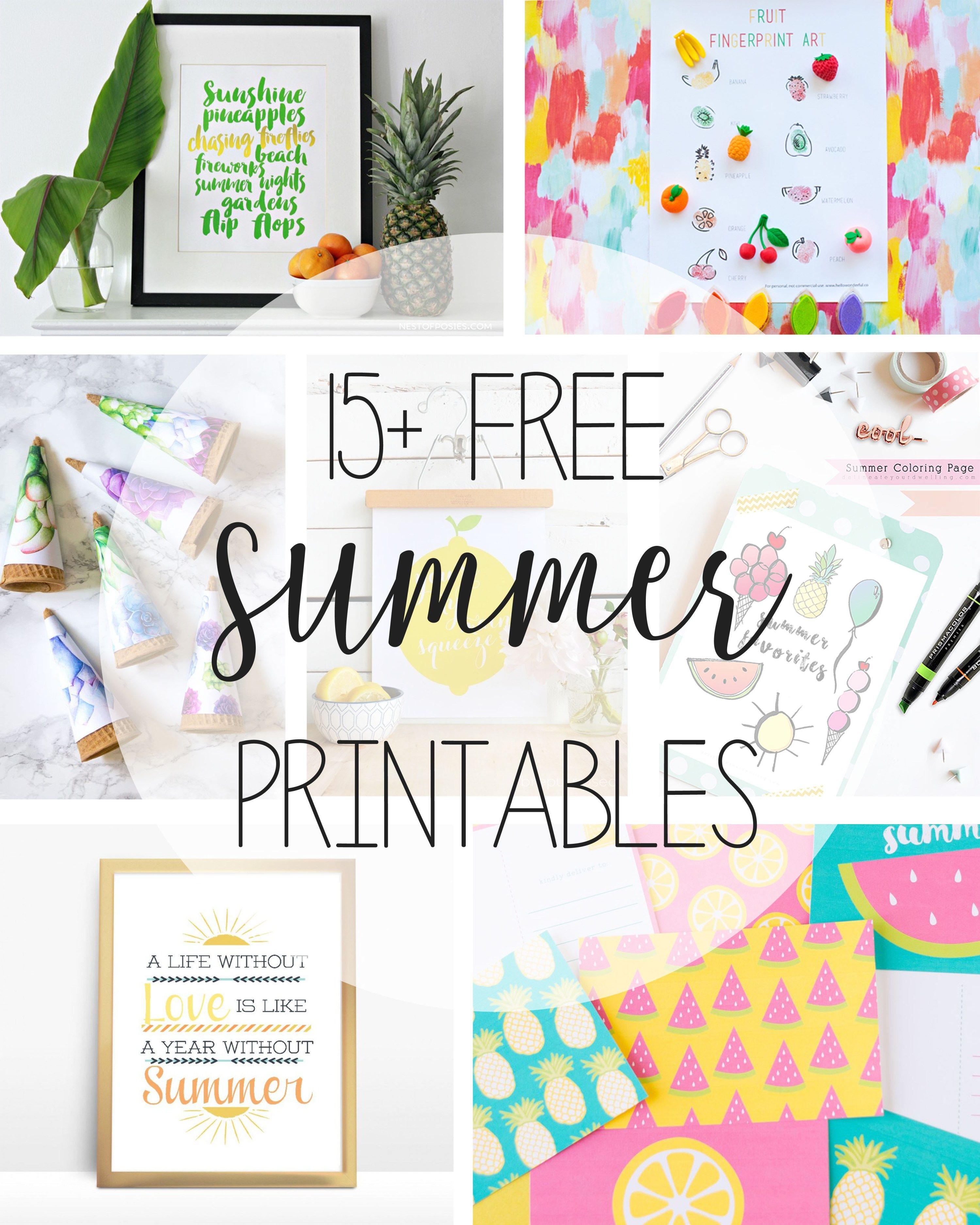 Free Summer Printable Art With Images Summer Printables
