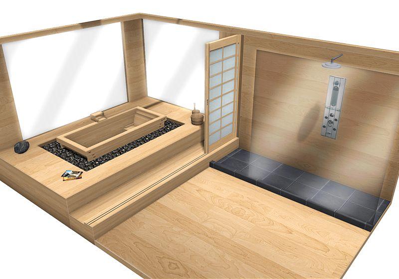 Japanese Ofuro soaking tub | Zen Bathrooms | Pinterest | Tubs, Zen ...