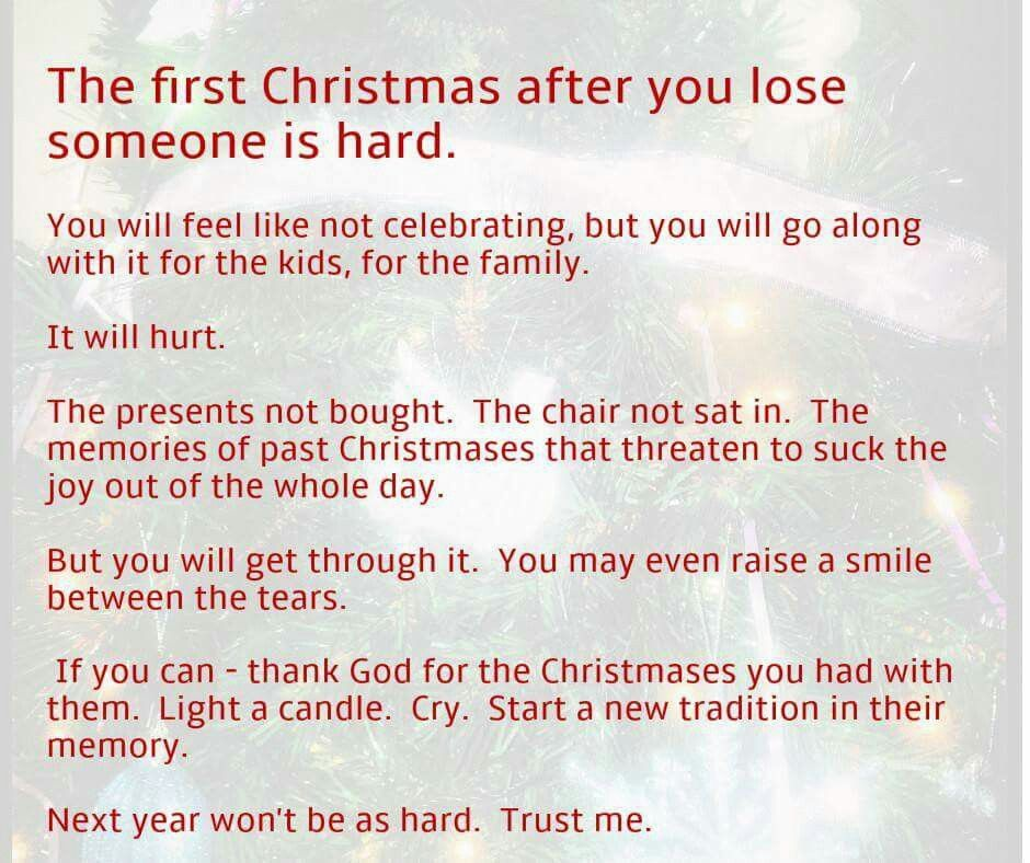 Missing Someone At Christmas Quotes: The 1st Christmas Without A Loved One