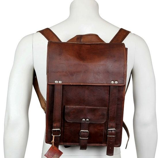 42f0a2a5dc74 Brown Leather Messenger Backpack Bag  Leather by rajasthaniart110 ...