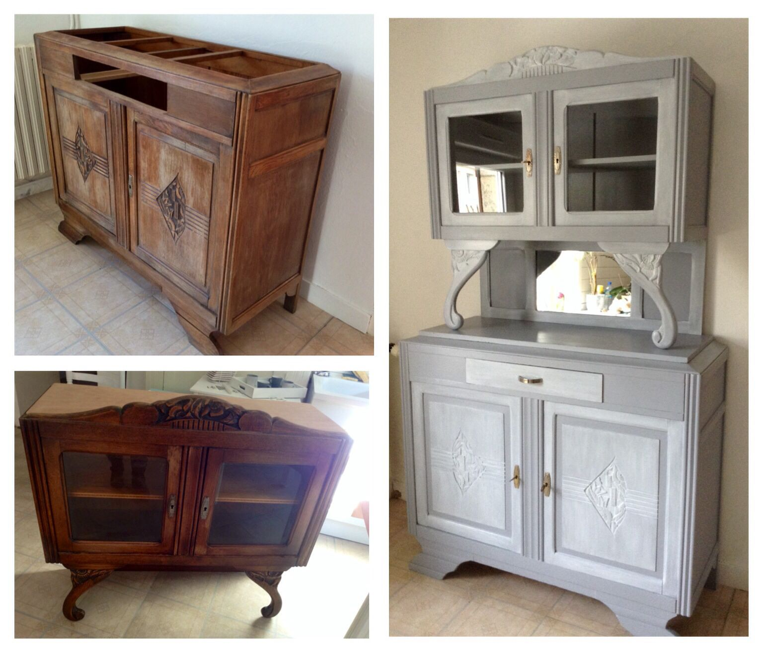 Relooking Vaisselier Relooking Buffet Des Années 30 Furniture Repurposed Pinterest