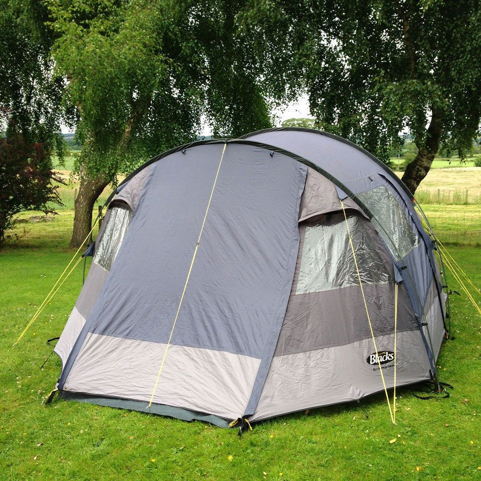 Blacks Gr&ian 4 Man 2 Bedroom Tent with Large Living Area and 3 Entrances & Lichfield Cullen 4 Man Tent Four Person Dome Tent | Dome tent and ...
